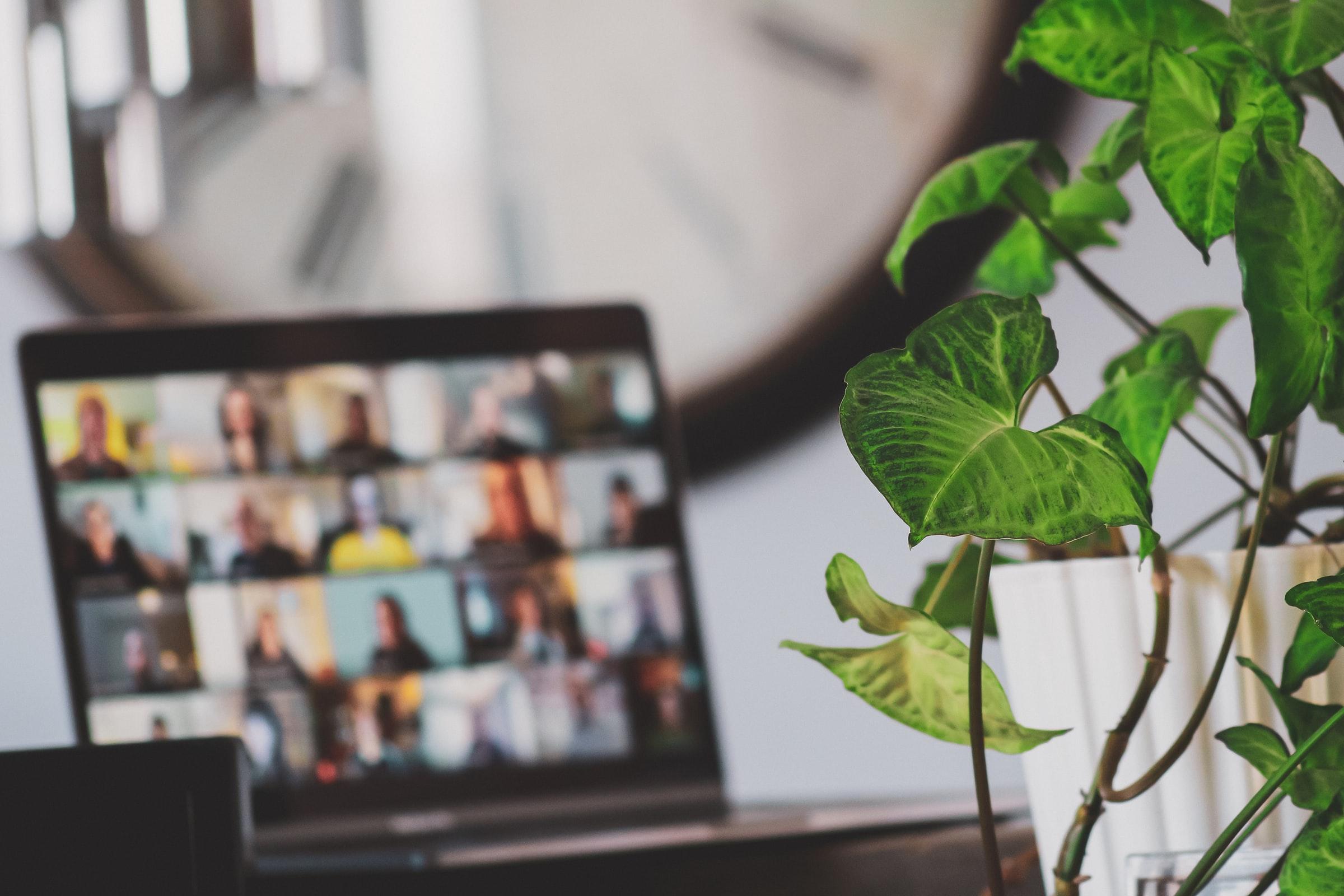 skärm med digitala mötesdeltagare